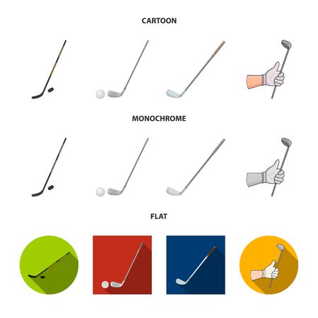 Vector design of  and stick symbol. Collection of  and golf  stock vector illustration.