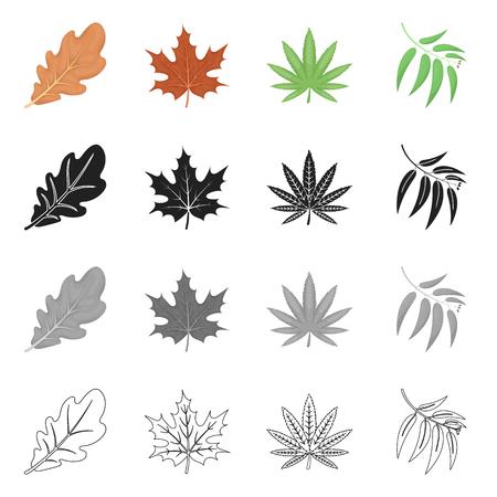 Ilustración de vector de símbolo vegano y orgánico. Conjunto de ilustración vectorial de stock vegano y fresco.