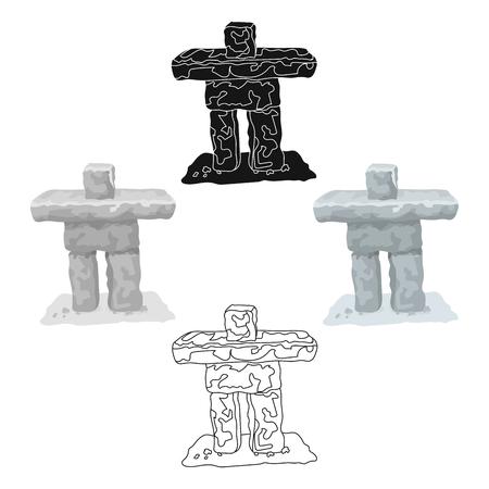 Stone sculpture in canada. Canada single icon in cartoon,black style vector symbol stock illustration web. Illustration