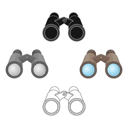 Binoculars for observation.African safari single icon in cartoon,black style vector symbol stock illustration web.