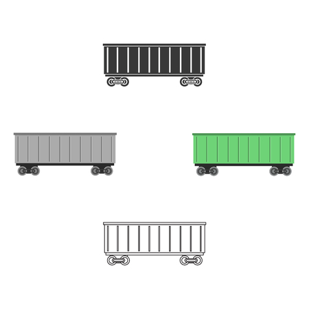 Railway carriage icon of vector illustration for web and mobile Standard-Bild - 124838596