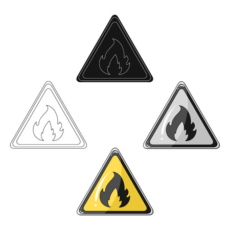 Sign of flammability.Oil single icon in cartoon,black style vector symbol stock illustration web.