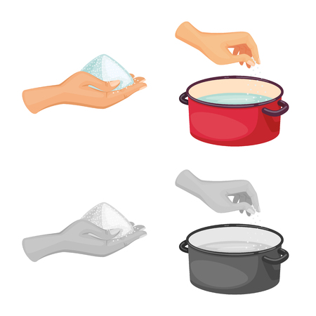 Vector design of cooking and sea symbol. Set of cooking and baking   vector icon for stock. Ilustração