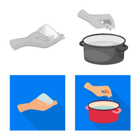 Vector illustration of cooking and sea symbol. Collection of cooking and baking   vector icon for stock. Ilustração