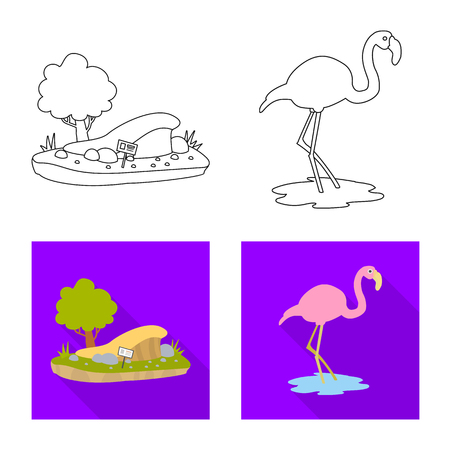 Isolated object of nature  and fun  symbol. Collection of nature  and entertainment stock vector illustration.