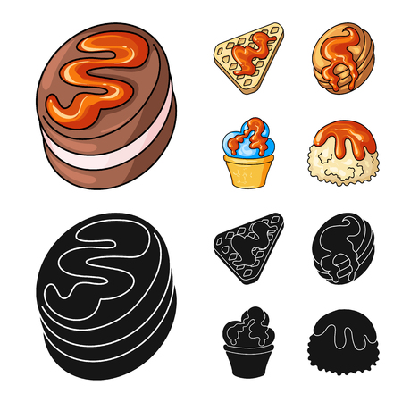 Vector illustration of confectionery and culinary icon. Collection of confectionery and product stock vector illustration.