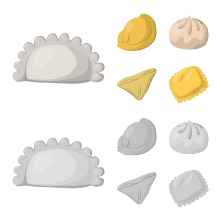 Isolated object of products  and cooking icon. Set of products  and appetizer vector icon for stock. Illustration
