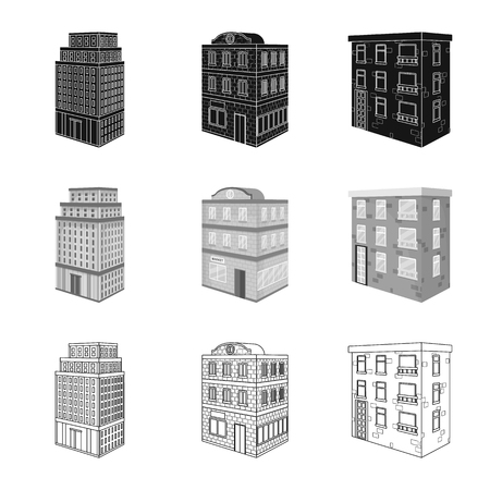 Vector illustration of construction and building symbol. Collection of construction and estate vector icon for stock. Vektorové ilustrace