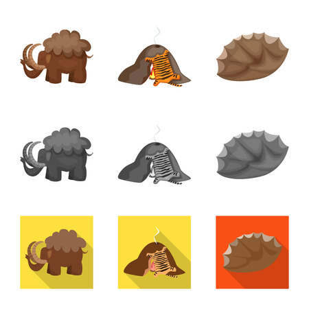 Vector illustration of evolution and prehistory sign. Collection of evolution and development vector icon for stock.