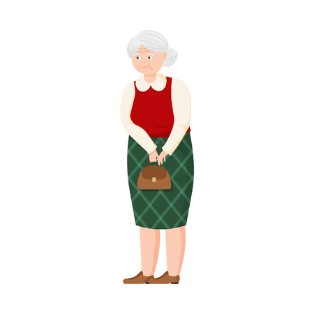 Isolated object of grandmother  and senior  sign. Set of grandmother  and old vector icon for stock. Ilustrace