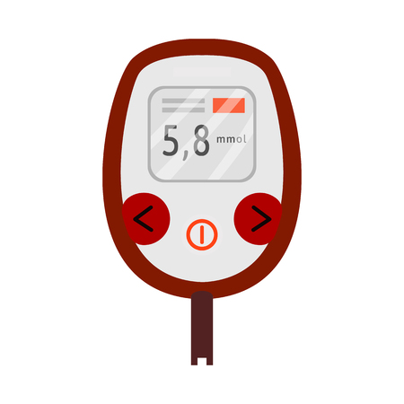 Isolated object of glucometer  and measuring. Set of glucometer  and chronic stock symbol for web. Ilustracja