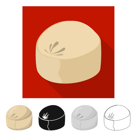 Vector design of pie and breakfast  icon. Set of pie and tasty  stock vector illustration. Illustration