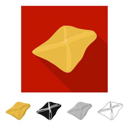 Vector design of manti  and jiaozi icon. Collection of manti  and dough vector icon for stock. Illustration