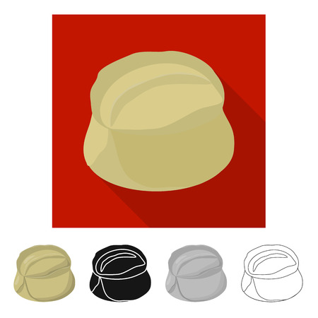 Isolated object of pie and breakfast  sign. Set of pie and tasty  vector icon for stock.