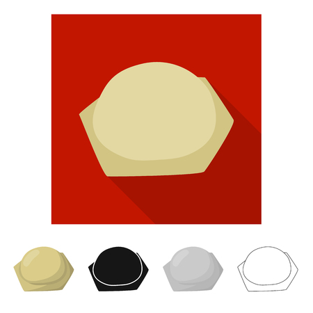 Vector illustration of pierogi and ravioli sign. Collection of pierogi and tortellini stock symbol for web. Illustration