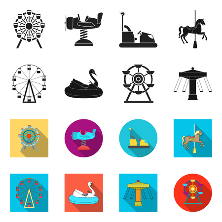 Vector design of fun and horse  icon. Set of fun and circus vector icon for stock.