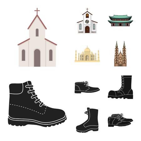 Vector design of religion and wedding symbol. Set of religion and house vector icon for stock. Ilustración de vector
