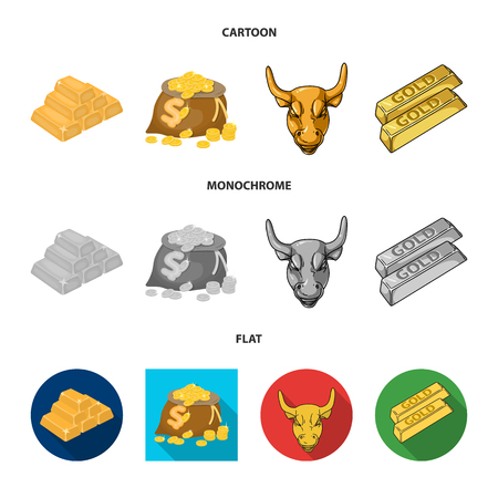 Vector illustration of  and gold. Set of  and golden vector icon for stock.