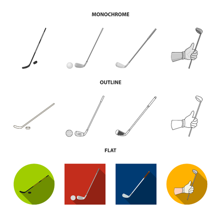 Isolated object of  and stick sign. Collection of  and golf  stock vector illustration.