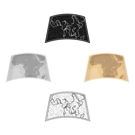 Map of mainland Africa.African safari single icon in cartoon,black style vector symbol stock illustration web.