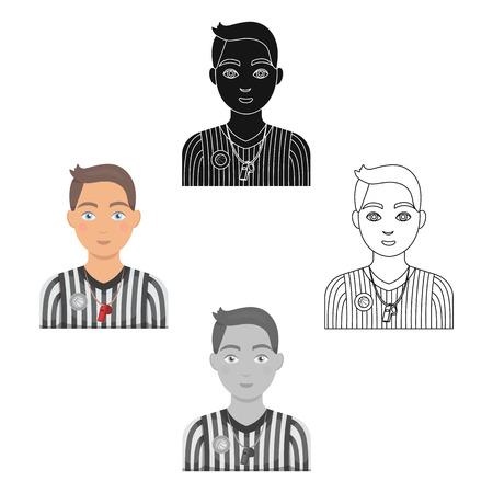 Basketball referee.Basketball single icon in cartoon,black style vector symbol stock illustration web. 일러스트