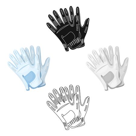 Golf gloves.Golf club single icon in cartoon,black style vector symbol stock illustration web.