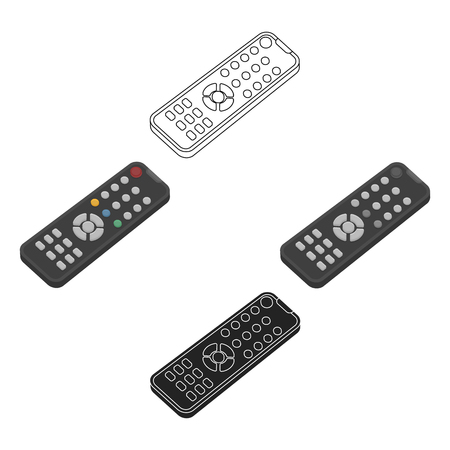 Remote control icon in cartoon,black style isolated on white background. Films and cinema symbol stock vector illustration.