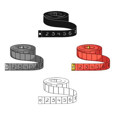 Red Roulette Seamstresses.Sewing o sartoria kit di strumenti singola icona in cartoon,nero stile simbolo vettore illustrazione stock. Vettoriali