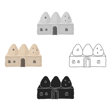 Beehive house icon in cartoon,black style isolated on white background. Turkey symbol stock vector illustration. Stock Vector - 125099475