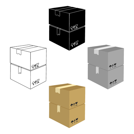 Packaged boxes with goods. Logistics delivery single icon in cartoon,black style isometric vector symbol stock illustration web. Ilustração