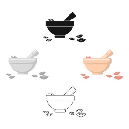 Icona di ciotola di sale di illustrazione vettoriale per web e mobile