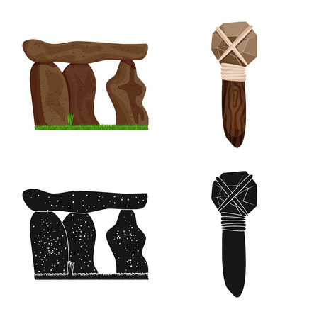 Vector illustration of evolution  and prehistory icon. Set of evolution  and development  vector icon for stock.