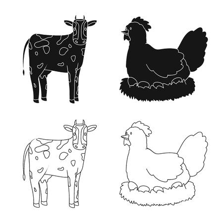 Isolated object of breeding and kitchen  icon. Collection of breeding and organic  vector icon for stock.