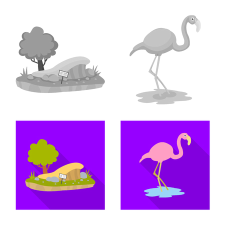 Vector design of nature  and fun  icon. Set of nature  and entertainment stock vector illustration.  イラスト・ベクター素材