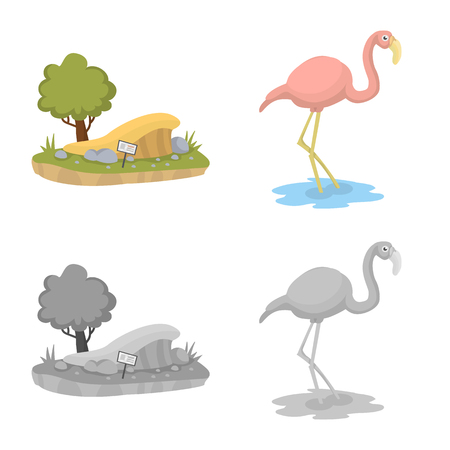 Isolated object of nature  and fun  logo. Collection of nature  and entertainment stock vector illustration.  イラスト・ベクター素材
