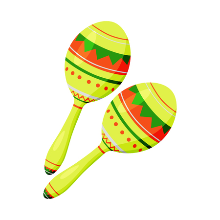 Vector illustration of maraca and instrument  icon. Collection of maraca and mexican    stock vector illustration. Illustration