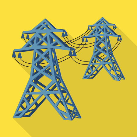 Isolated object of line  and electric  icon. Set of line  and cable vector icon for stock. Foto de archivo - 124281082