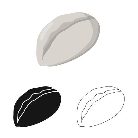 Isolated object of gedza and khinkali logo. Set of gedza and asian stock vector illustration.
