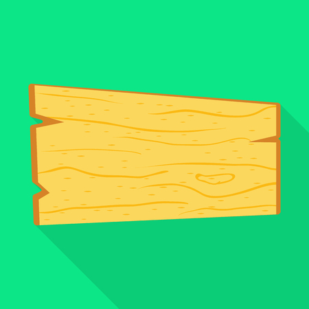 Vector illustration of board and handmade  icon. Set of board and fence stock symbol for web. Illustration