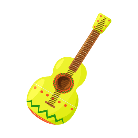 Vector design of guitar  and ornament  symbol. Set of guitar  and folk stock symbol for web. Illustration