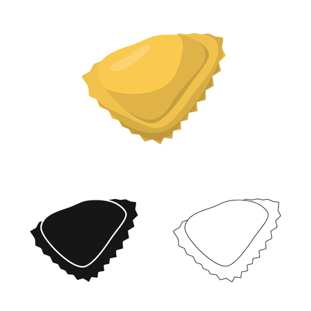Isolated object of manti  and Asian logo. Collection of manti  and Italian stock vector illustration. Stock Vector - 124281547