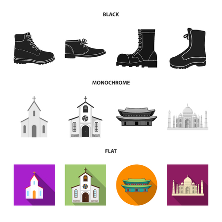 Isolated object of religion and wedding icon. Set of religion and house stock symbol for web. Ilustración de vector