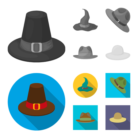 Vector design of hat and cap logo. Set of hat and model vector icon for stock.