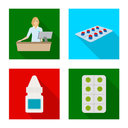Isolated object of hospital and help logo. Collection of hospital and healthcare vector icon for stock.