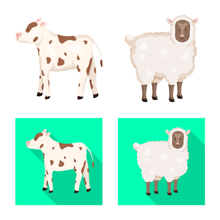 Vector design of breeding and kitchen. Set of breeding and organic  stock symbol for web.