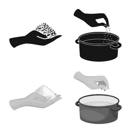 Isolated object of cooking and sea symbol. Collection of cooking and baking   stock symbol for web. 일러스트