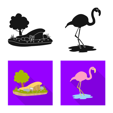 Vector illustration of nature  and fun. Set of nature  and entertainment vector icon for stock. Illustration