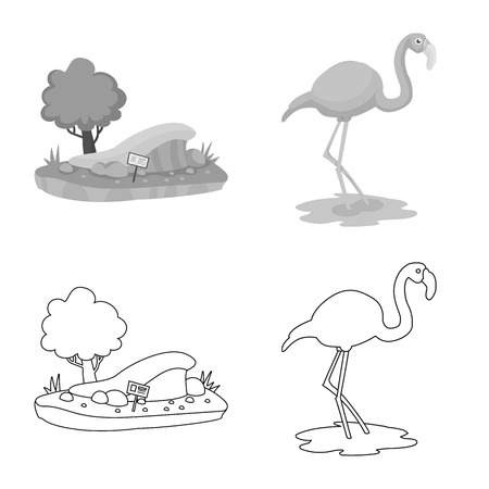 Isolated object of nature  and fun  sign. Collection of nature  and entertainment vector icon for stock. 写真素材 - 124388764