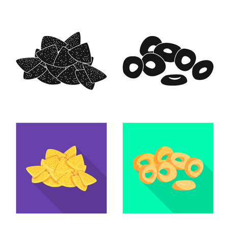 Isolated object of Oktoberfest and bar symbol. Collection of Oktoberfest and cooking stock symbol for web.