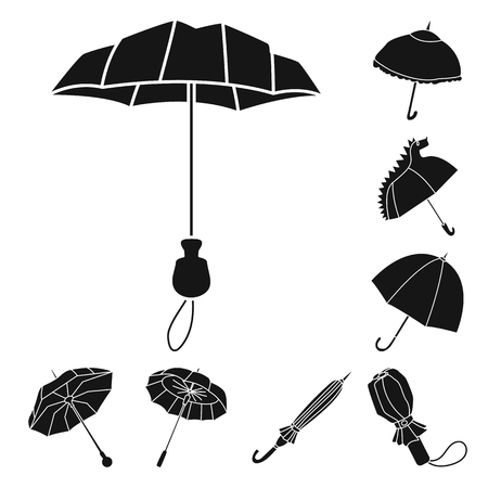 Vector illustration of weather and rainy logo. Set of weather and rain stock vector illustration.